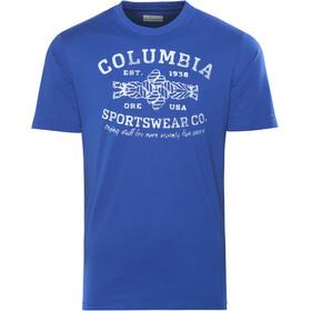 Columbia Rough N' Rocky SS Tee Herren azul